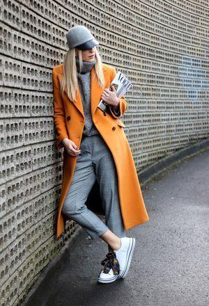 saco de paño largo naranja