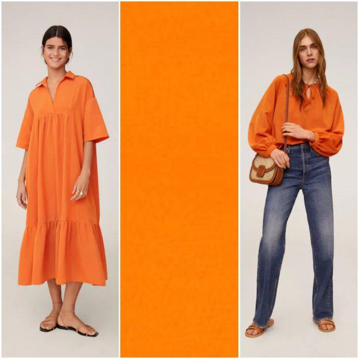 Naranja Llama tendencias en colores verano 2021