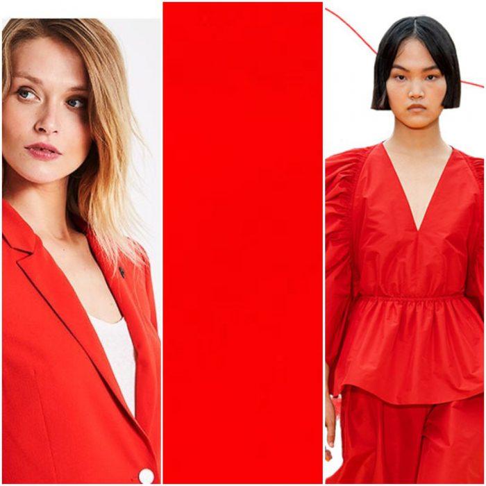 Rojo intenso tendencias en colores verano 2021