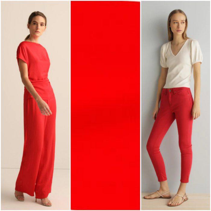 Rojo llama escarlata tendencias en colores verano 2021