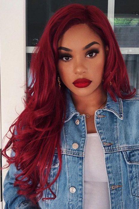 cabello rojo larg