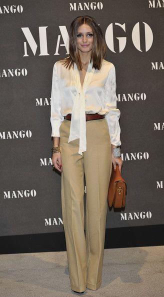 look elegante con pantalon y camisa blanca