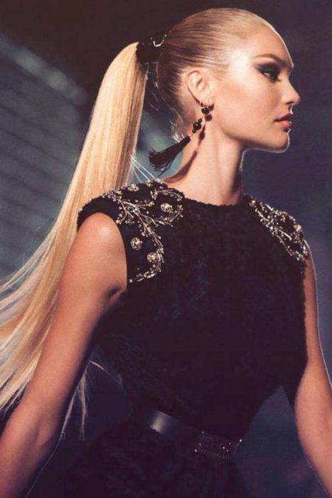 peinado cola recogida