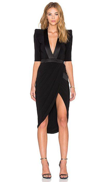 vestido negro de los años 80