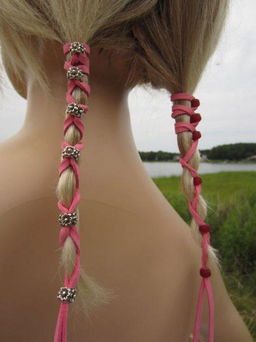 accesorios para el cabello de cordones