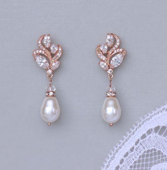aros perlas gotas vintage