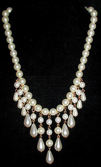 collar perlas vintage
