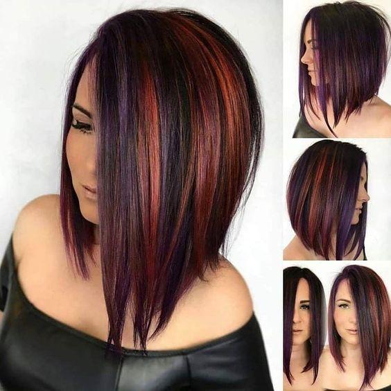 cores asimetricos de cabello