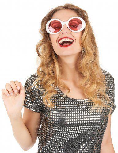 gafas redondas blancas