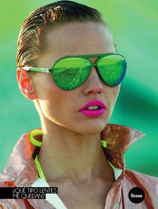 lentes de sol verdes