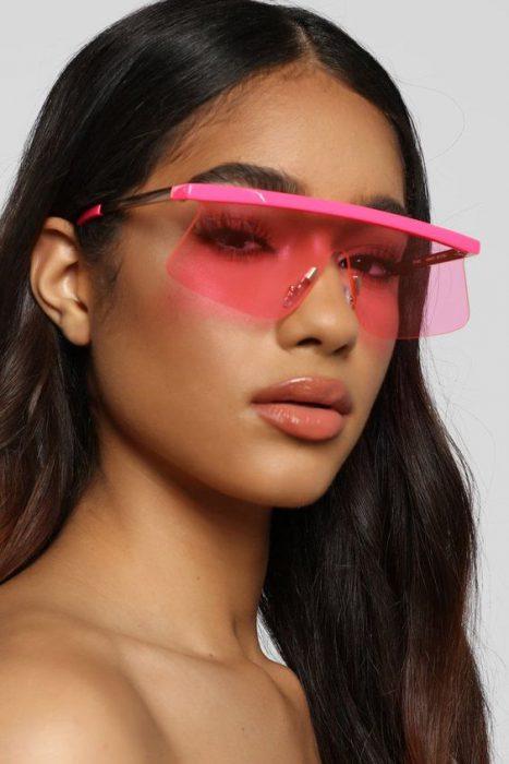lentes gafas rosadas