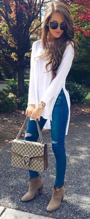 look de primavera con jeans