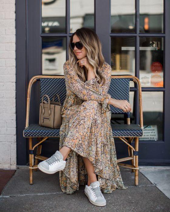 maxi vestido casual para primavera