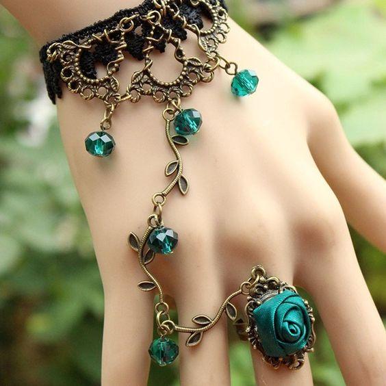 pulsera anillo floral