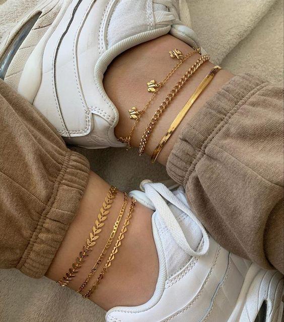 tobilleras con zapatillas