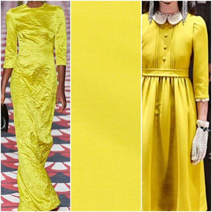 Amarillo color de moda otoño invierno 2021