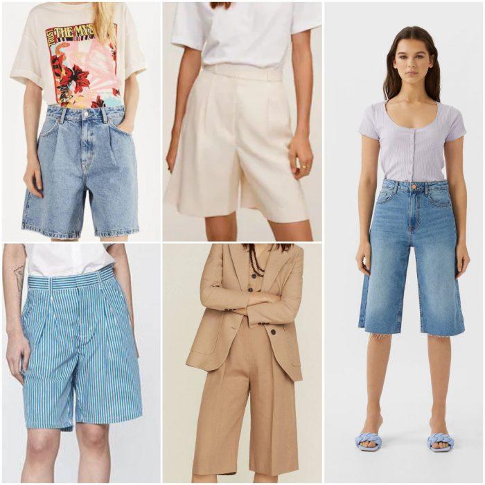 Bermuda short Moda mujer verano 2021