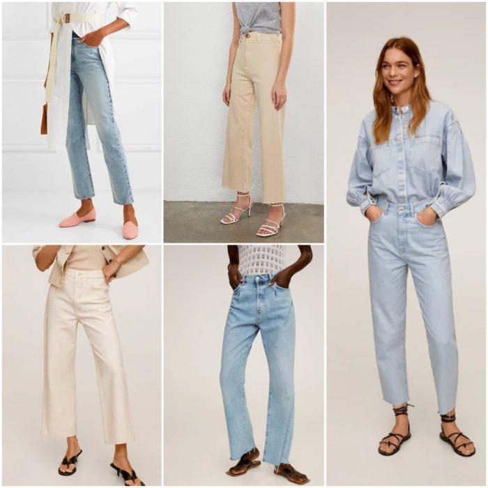 Jeans rectos Moda mujer verano 2021