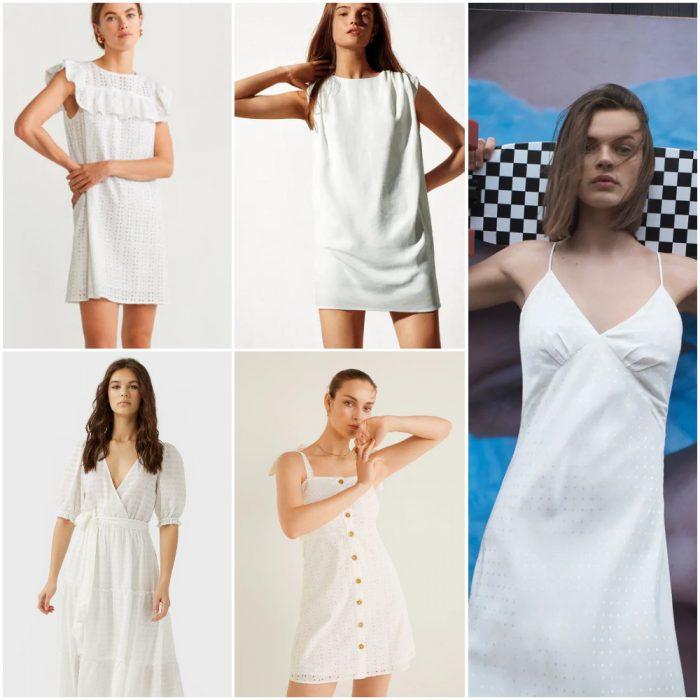 Vestidos Blancos Moda mujer verano 2021