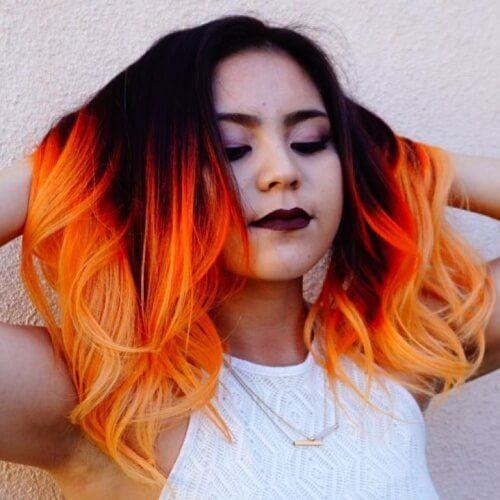 cabellos con colores vibrantes