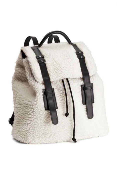 cartera mochila de corderito invierno 2021