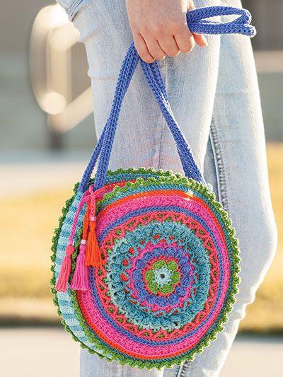 carteras a crochet hippie chic verano 2021