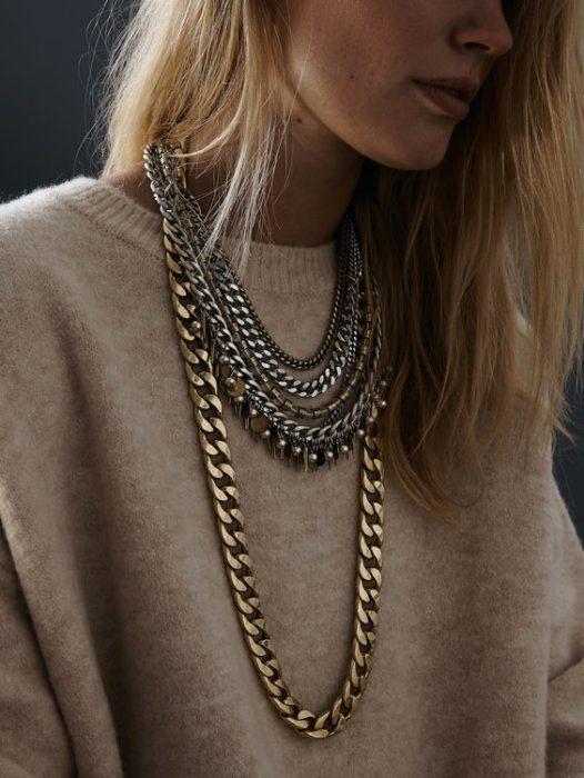 collares de cadena gruesa
