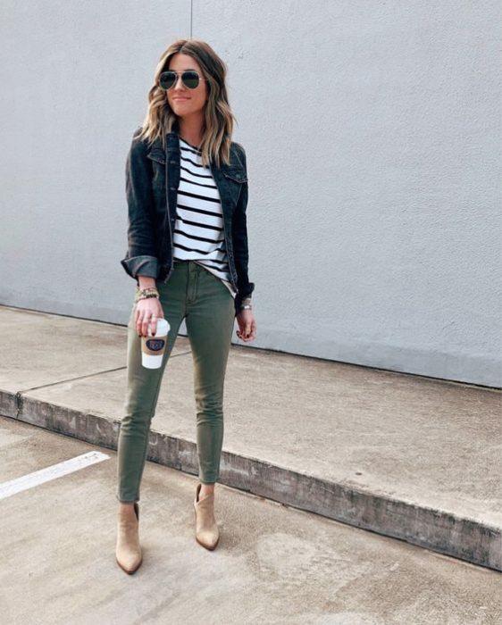 jeans verde milir chupin