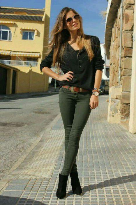 jeans verde militar