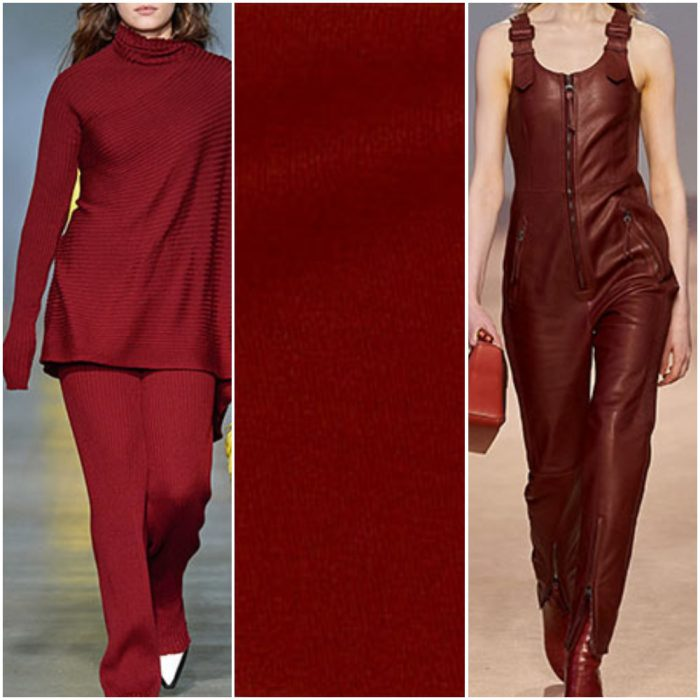 ladrillo rojo color de moda otoño invierno 2021