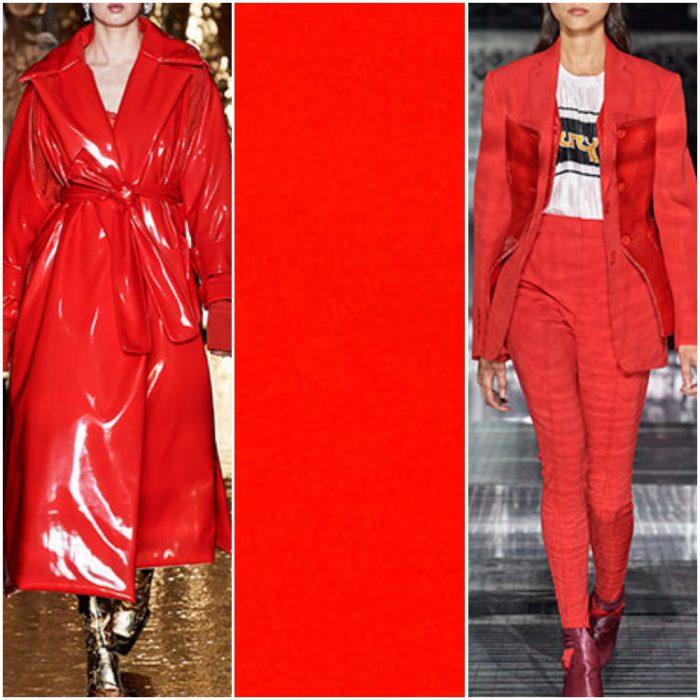 mandarina roja color de moda otoño invierno 2021