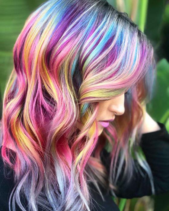 mechones de colores para el cabello