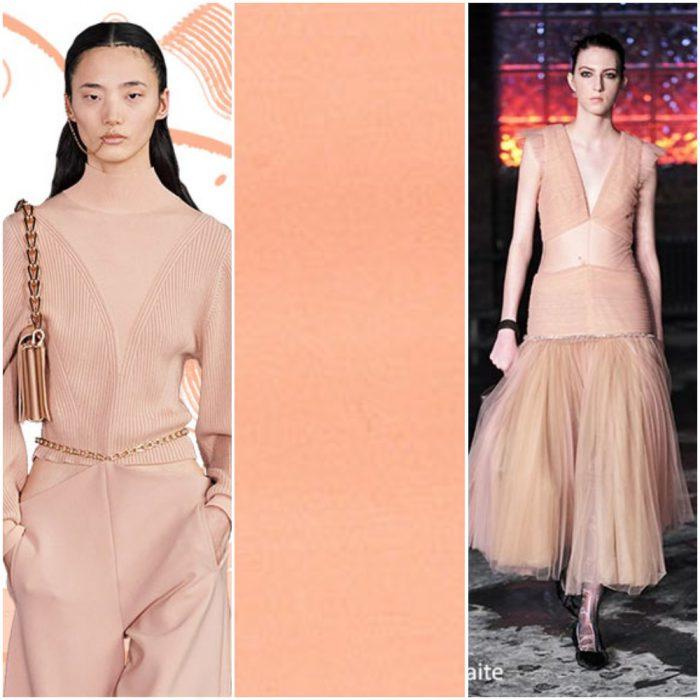 melocoton color de moda otoño invierno 2021