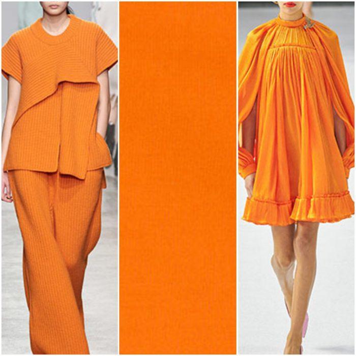 naranja color de moda otoño invierno 2021