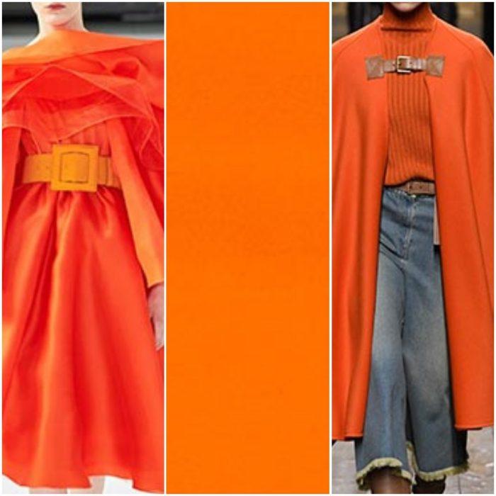 naranja fuerte color de moda otoño invierno 2021