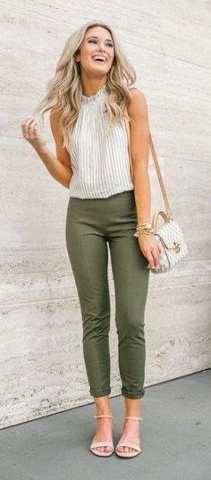 pantalon chupin verde militar