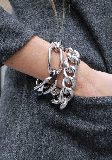 pulsera de cadena gruesa moda accesorios invierno 2021