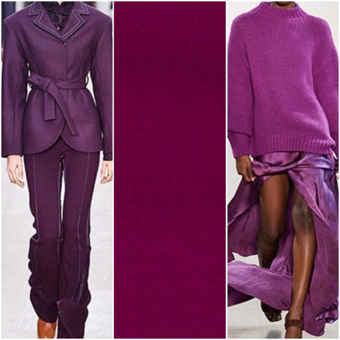 purpura magenta color de moda otoño invierno 2021