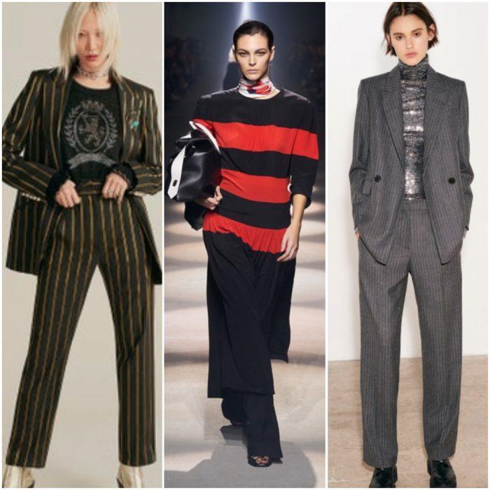 rayas impresiones de moda invierno 2021