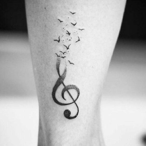 tatuaje clave de sol