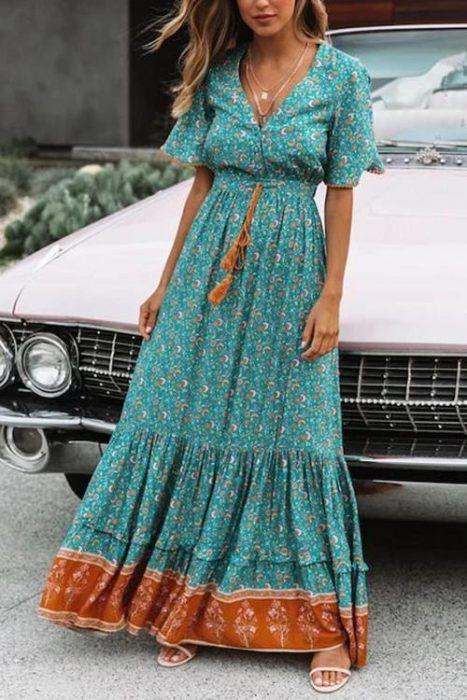 maxi vestido casual