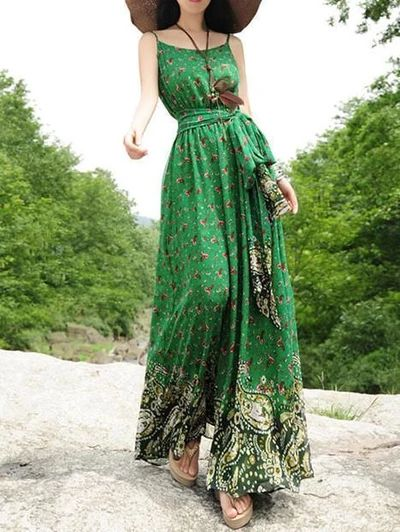 maxi vestido solera casual verano