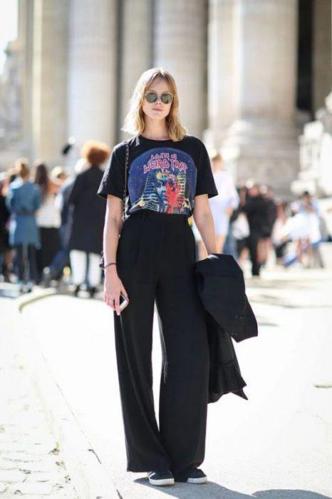 Outfits Con Palazzo Negro Para Mujer 2021 Muy Trendy