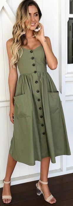 vestido camisero para senoras