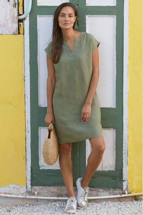 vestido croto tunica senoras