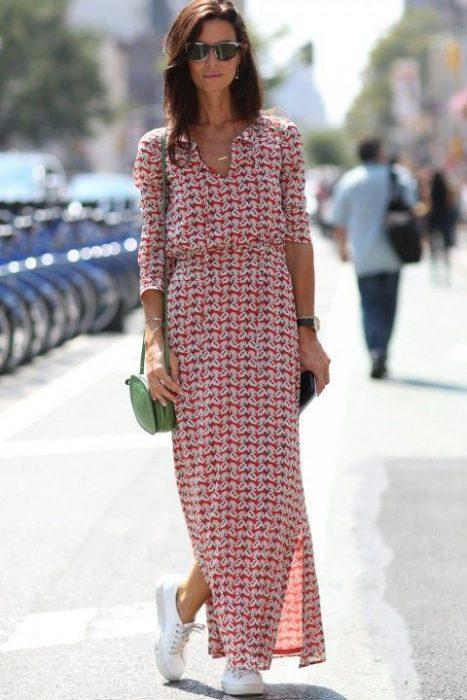 vestido estampado tunica casual