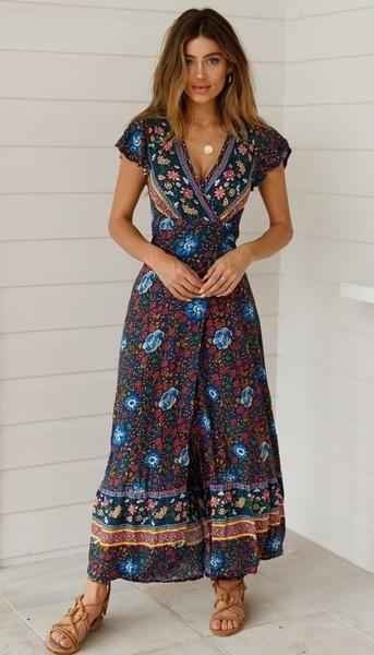 vestido largo informal verano