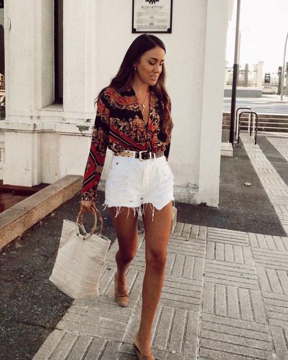 blusa y short de jeans blanco verano
