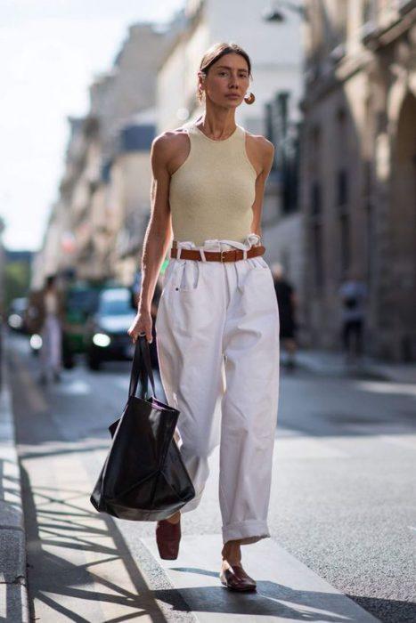 jeans mom blanco look urbano