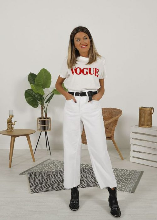 moda con jeans blanco